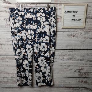 Eloquii polka dot floral pants size 18